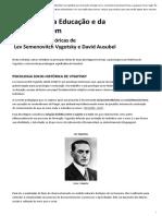 torias de Lev Semenovitch Vygotsky e David Ausubel