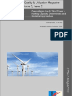 Overvoltages due to Wind Power - Hosting Capacity, Deterministic and Statistical Approaches