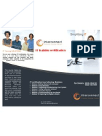 IT Training Certification Broucher
