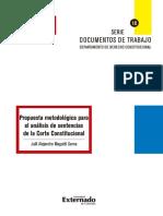 ANALISIS SENTENCIA 736 DE 2015 (2)