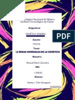 Áreas generales de la Génetica
