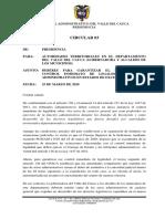 CIRCULAR DE PRESIDENCIA 03 DEL 25 DE MARZO DE 2020