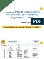 Proyectos de Ley para Tacna y el Perú de Solidaridad Nacional
