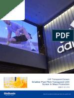 UVF Transparent Screen