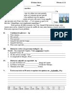 test d'evaluation 11 FR L2 unite 3