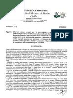 Ordinanza numero 11 del 15 aprile 2021 del comune di Roccadaspide (Salerno)