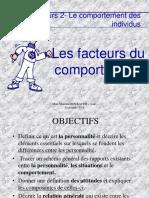 Cours 2 Les Facteurs Du Comportement Individuel 2018