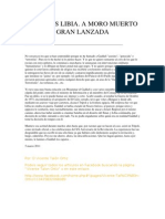 LA CRISIS LIBIA. A Moro Muerto Gran Lanzada