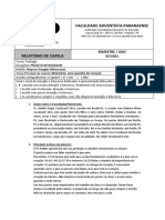 Relatorio de Capela 08.04 - Pr Helder Roger Silva
