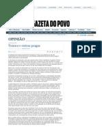 CODATO, Adriano. Tiririca e outras pragas. Gazeta do Povo, 28 set. 2010.