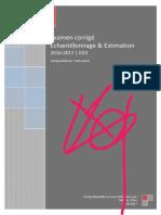 Examen O 2016-2017 Echantillonnage&Estimation