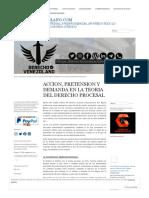 ACCION, PRETENSION Y DEMANDA EN LA TEORIA DEL DERECHO PROCESAL « DerechoVenezolano.Com