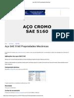 Aço SAE 5160 Propriedades Mecânicas 01