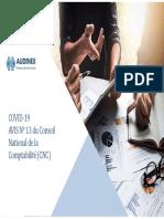 CNC Avis N 13 - Traitement comptable des dons versés au fonds COVID-19