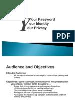 Password presentation