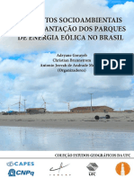 Livro Impactos Socioambientais Da Implantacao Dos Parques de Energia Eolica No Brasil
