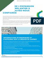 Implantez-vous et prenez de l'expansion à Québec - Québec International