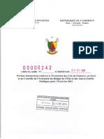Cameroun Circulaire Minfi Exécution du budget 2021