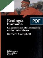 CAMPBELL - Ecología Humana