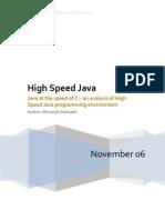 High Speed Java