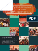 Memória Dos 20 Anos Da Educação Do Campo e Do PRONERA