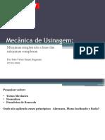 Mecânica de Usinagem - Torno Mecânico