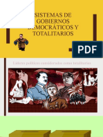 Sistemas de Gobiernos Democráticos y Totalitarios