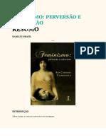[RESUMO] FEMINISMO PERVERSÃO E SUBVERSÃO
