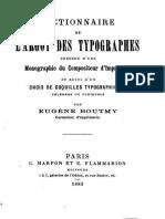 Dictionnaire de l'argot des typographes - Boutmy