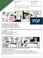 Avaliação I Bim Língua Portuguesa 6º ano
