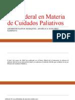 Ley Federal en Materia de Cuidados Paliativos