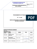 PT-004 . Montaje mecánico e interconexionadode SKID e inversor