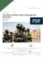 As Forças Armadas, 1964 e a alopragem de Bolsonaro _ O Antagonista