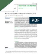 DISPUTA DO FUNDO PUBLICO NA PANDEMIA