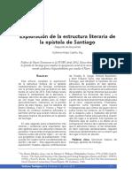 Estructura literaria Santiago
