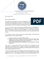 Mayor's Letter to Councilor Hurst