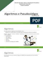 Aula 03 -Algoritmos e Pseudocódigos