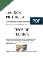 TECNICA PICTORICA
