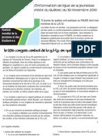 Bulletin d'information de la LJCQ 19 novembre 2010