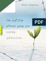 Tout ce qu´ils n´ont pas pu nous prendre_RUTA SEPETYS_Gallimard