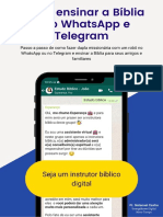Como Ensinar a Bíblia Pelo WhatsApp e Telegram - PDF