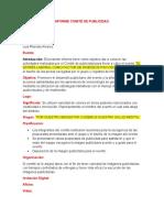 Informe Comite de Publicidad.