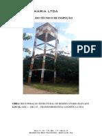 Laudo de Vistoria Técnica - Caixa D'Agua - Agil Engenharia
