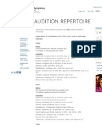 New World Symphony - Audition Repertoire