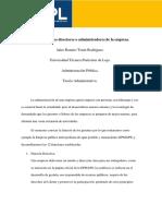 Funciones de los directores o administradores de la empresa