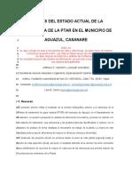 ANÁLISIS DEL ESTADO ACTUAL DE LA ESTRUCTURA DE LA PTAR EN EL MUNICIPIO DE AGUAZUL (1)