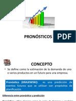 Pronósticos Inventarios Lecciones # 2, # 3 y # 4 Presentación