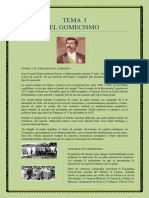 Tema 1 - El Gomecismo