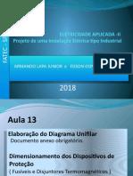 instalações elétricas FATEC 2018 , AULA 13