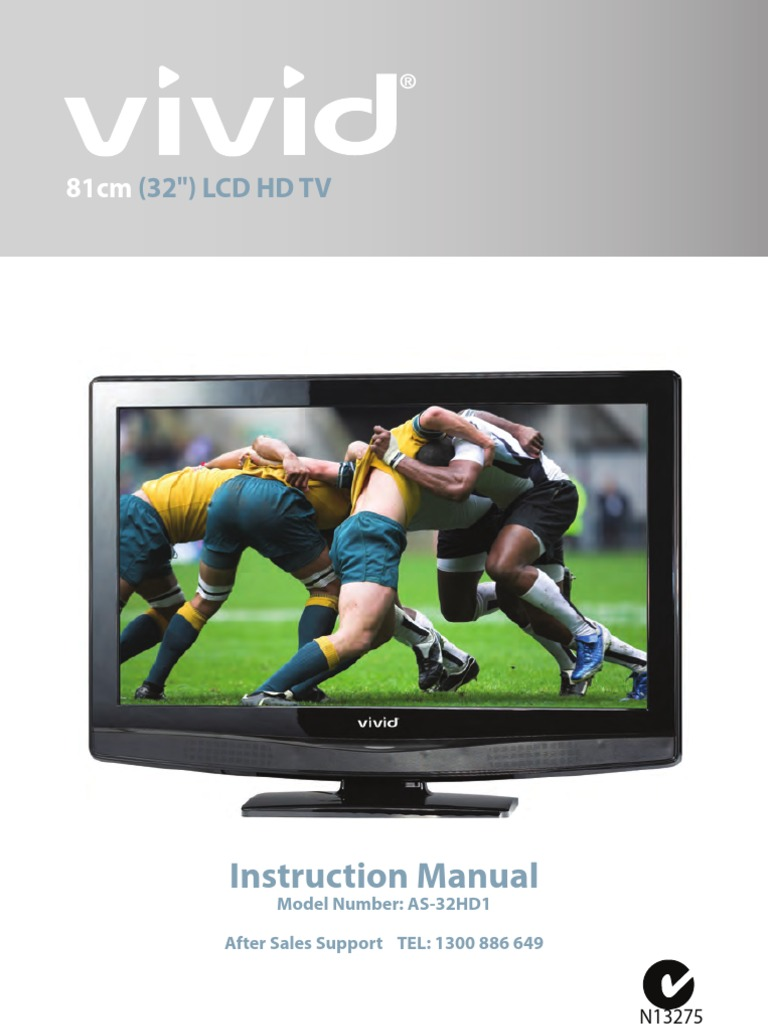 AS-32HD1 81cm (32 inch) LCD HD TV VIVID Instruction Manual